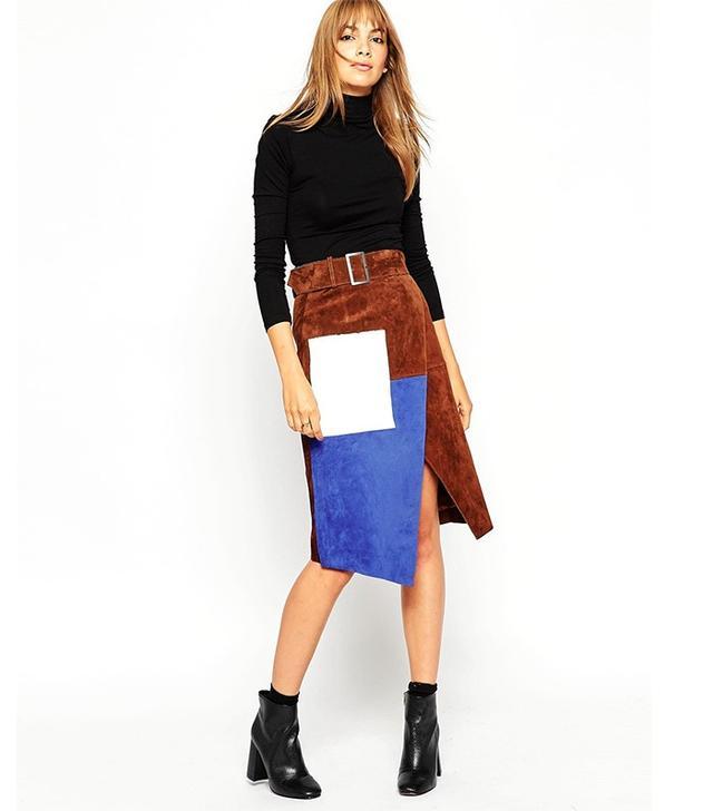 ASOS Suede Wrap Skirt