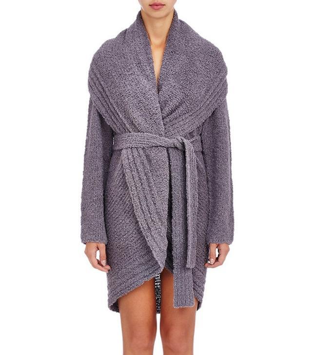 Skin Bouclé Wrap Robe