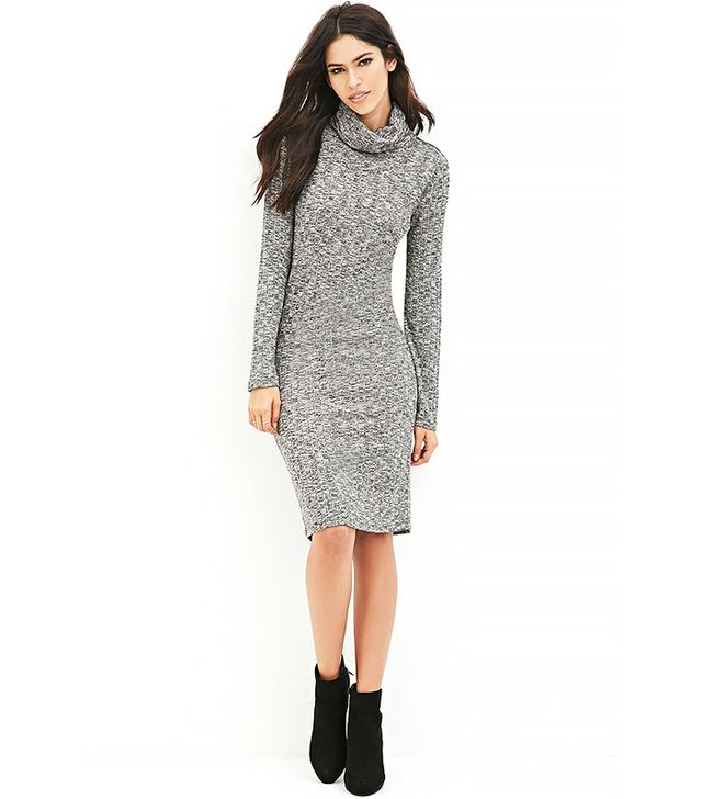 Forever 21 Turtle Neck Midi Dress