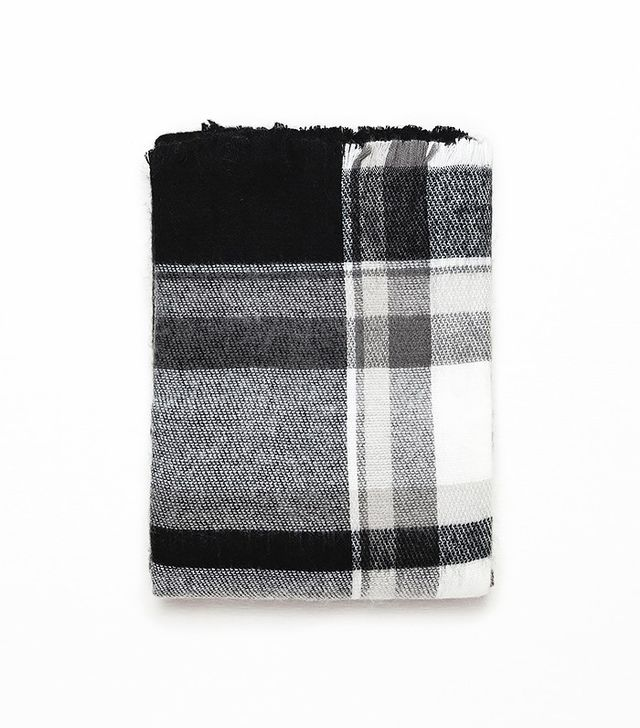 Zara Checked and Striped Scarf