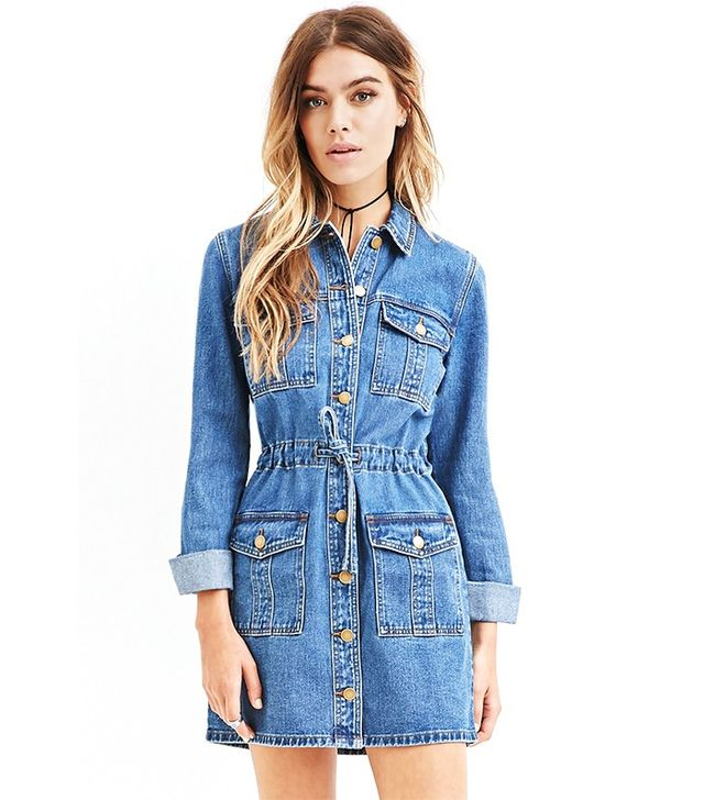 Forever 21 Buttoned Down Dress