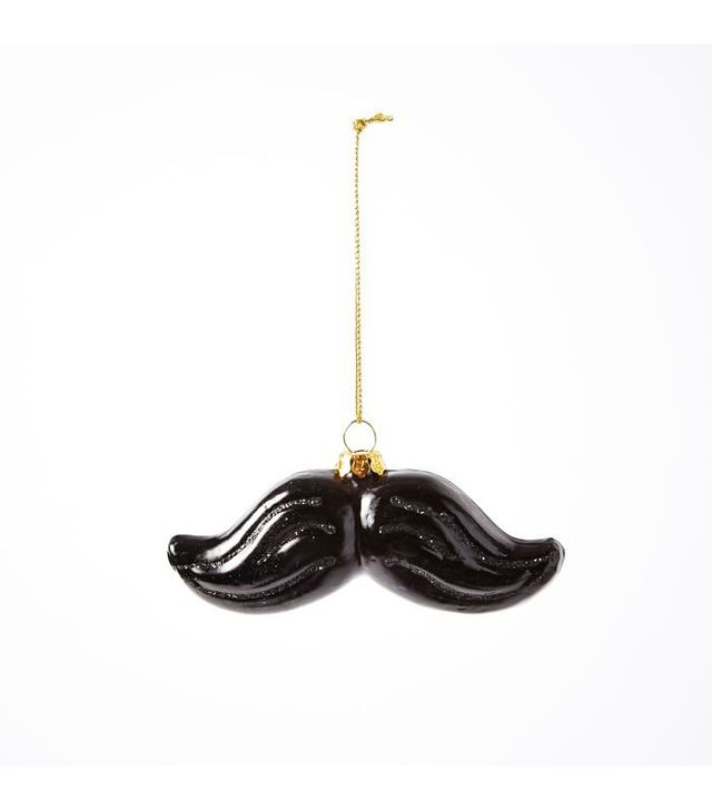 West Elm Glass Mustache Ornament