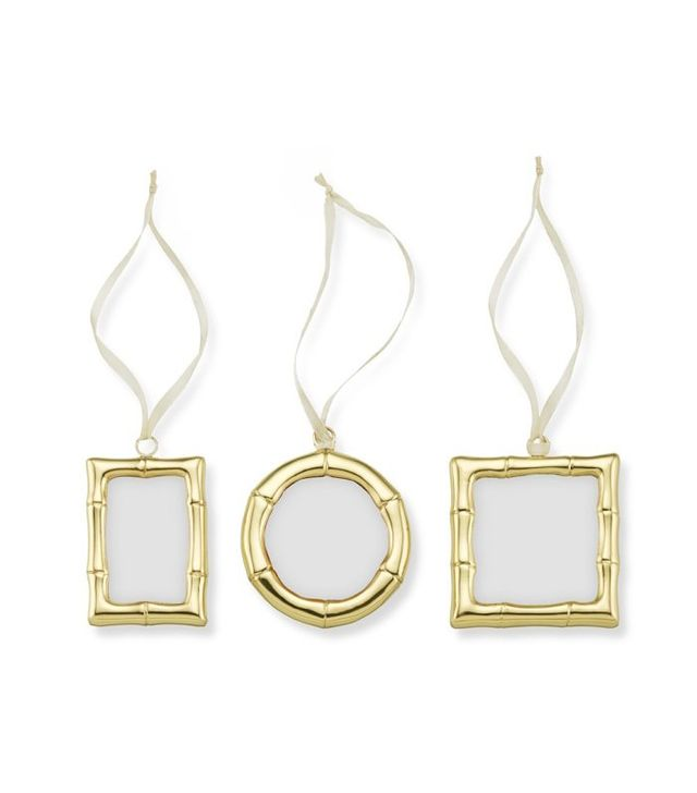 Williams Sonoma Bamboo Frame Ornaments