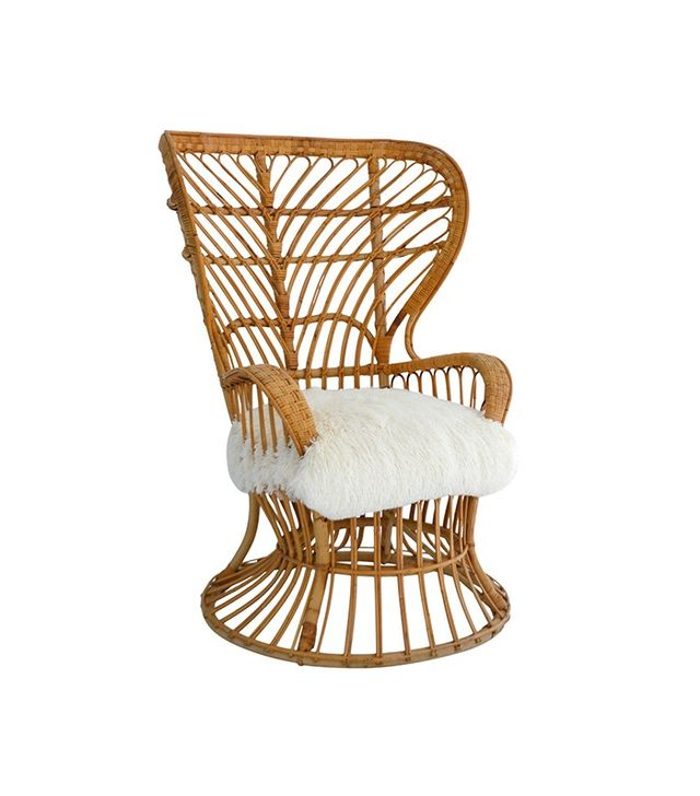 Patrick Moultney Design Group Woven Rattan and Bamboo Chair
