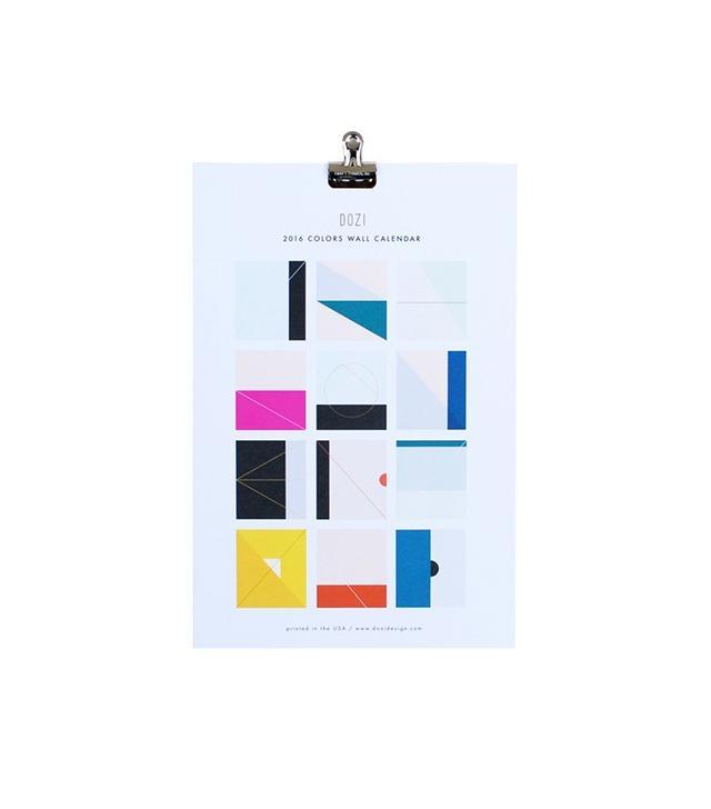 Dozi 2016 Colors Wall Calendar