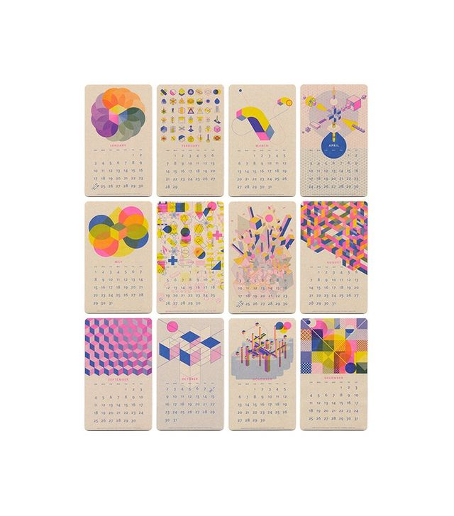 Paper Pusher 2016 Isometric Risograph Calendar