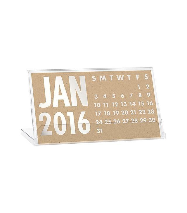 Paper Source 2016 Silver Foil Desk Calendar