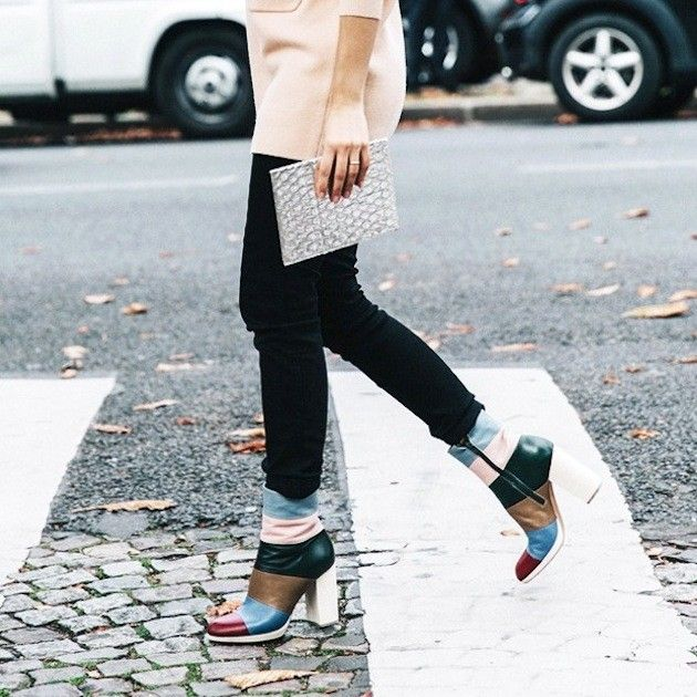 An Editor-Approved Way to Wear Color-Block Boots