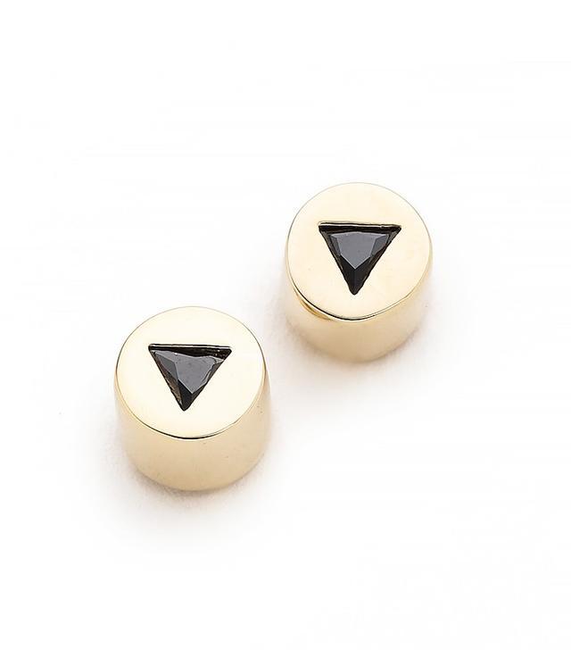 Eddie Borgo Crystal Triangle Stud Earrings