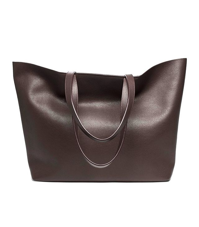 Everlane The Petre Market Burgundy Tote