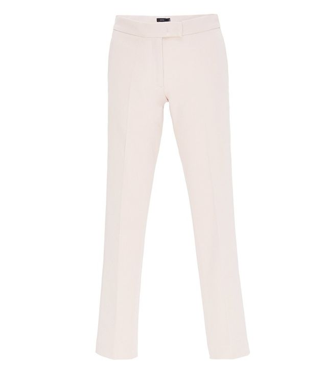 Joseph Cotton Blend Finley Straight Cropped Pants