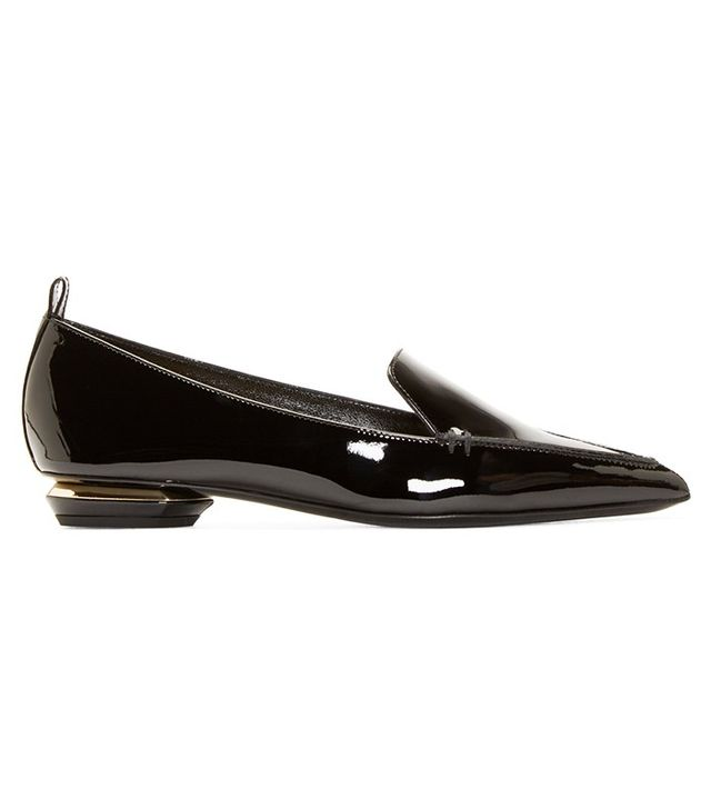 Nicholas Kirkwood Black Patent Leather Beya Loafer