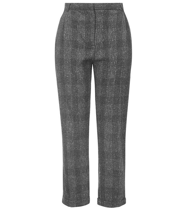 Topshop Mensy Checked Peg Trousers