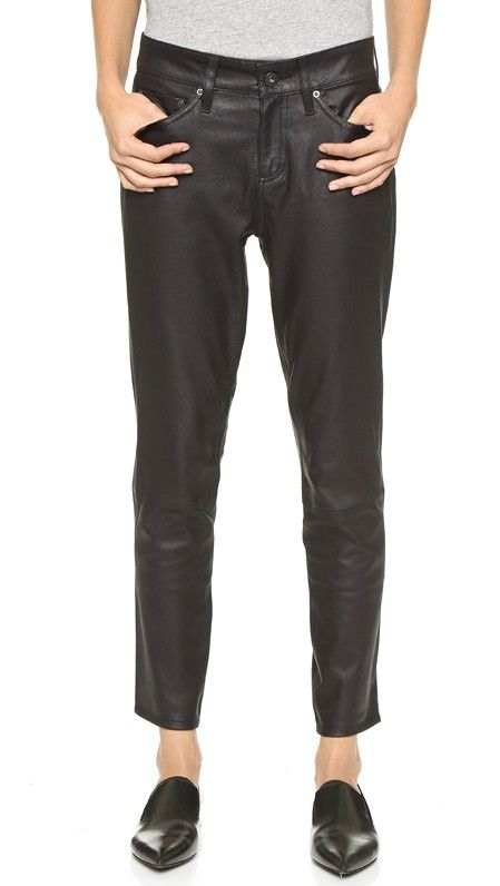 AG Jeans Beau Slouchy Leather Pants