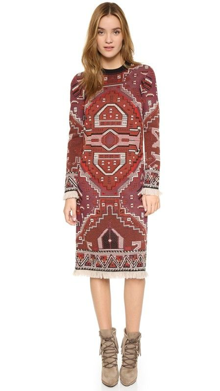Tory Burch Long Sleeve Dress