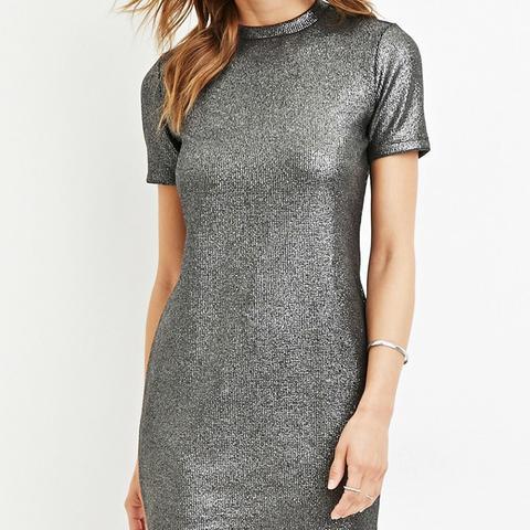 Contemporary Metallic Sheath Dress