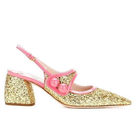 Glitter-Embellished Sandals