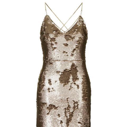 Brushed Bronzed Sequin Dress