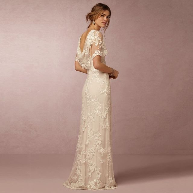 7 romantic wedding dresses whowhatwear bhldn estella gown 2000 junglespirit Image collections