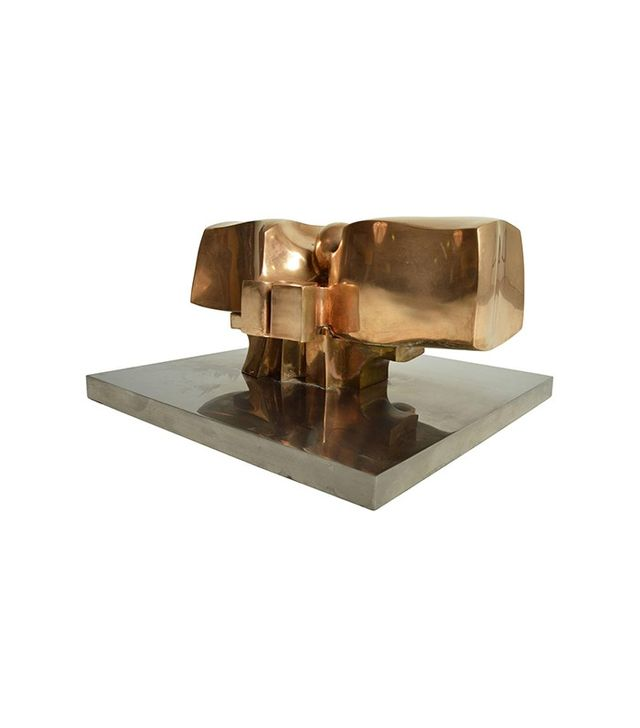 Jose Luis Sanchez Midcentury Solid Bronze Abstract Sculpture