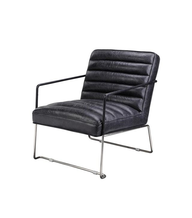 Dot & Bo Black Leather Charles Club Chair