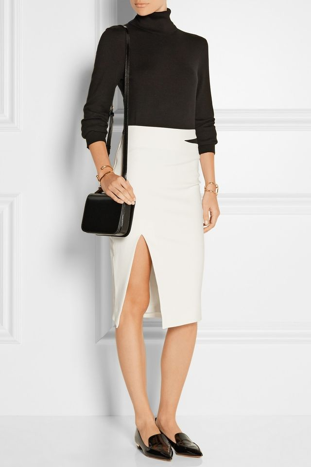 Elizabeth and James Perla Cutout Stretch-Crepe Pencil Skirt