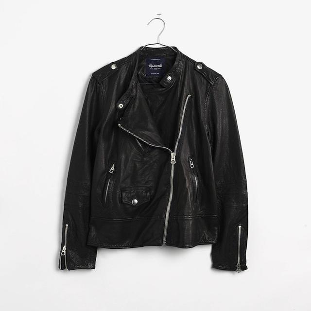 Madewell Washed Leather Swing Jacket