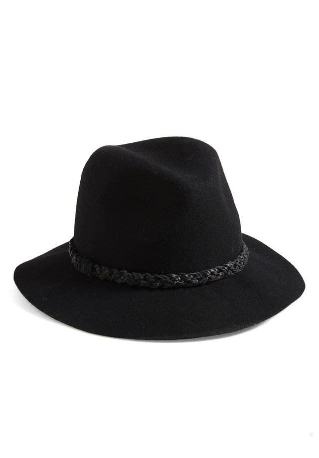 Treasure&Bond Braided Trim Felted Wool Panama Hat