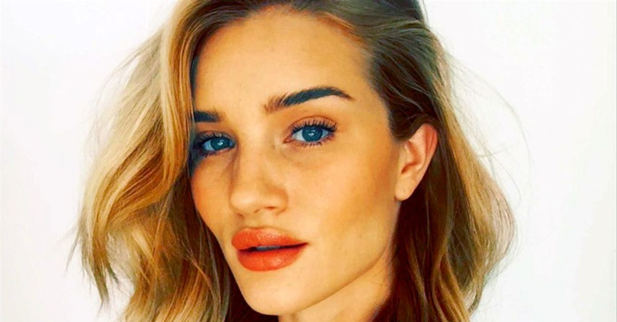 Rosie Huntington-Whiteley Shows Us Her Entire Daily Makeup Routine ...