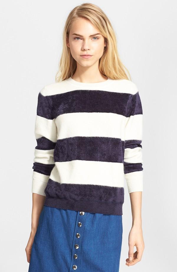 A.P.C. Fuzzy Stripe Sweater