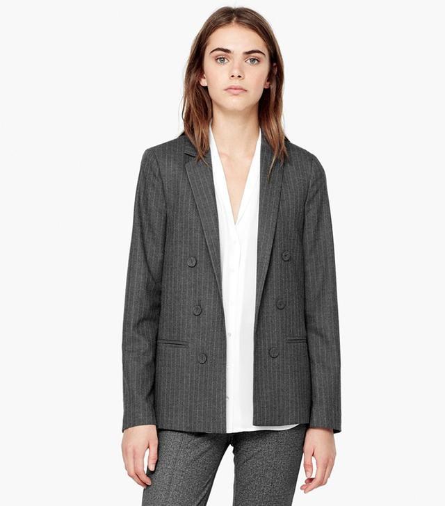 Mango.com Pinstripe Suit Blazer
