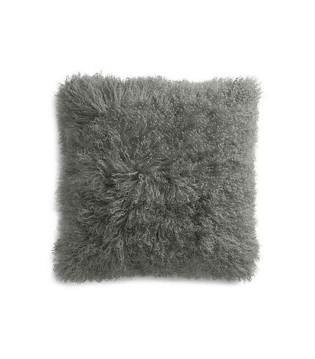 Crate and Barrel Pellicccia Fur Pillow