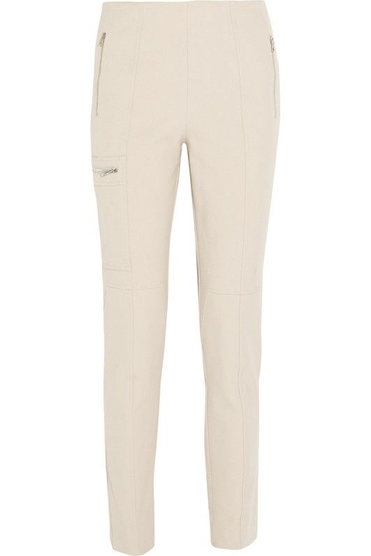 Chloé Snow Capsule Stretch-Wool and Cotton-Blend Twill Straight-Leg Pants
