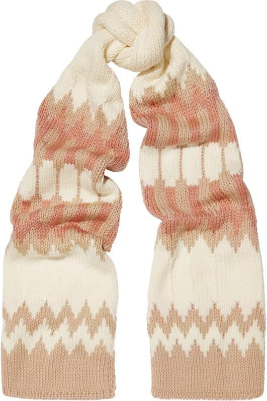 Chloé Snow Capsule Intarsia Wool Scarf