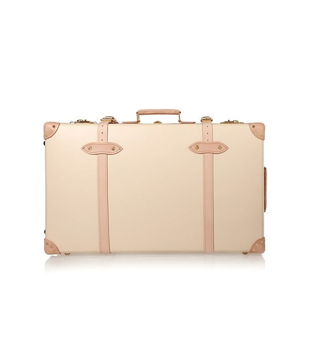 Globe-Trotter Safari Leather-Trimmed Fiberboard Suitcase
