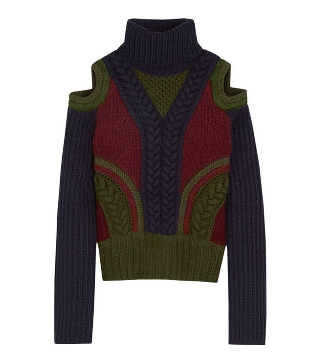 Alexander McQueen Cutout Wool-Blend Turtleneck Sweater