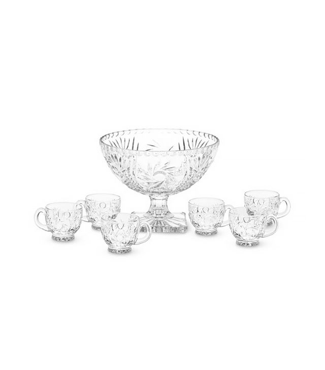 Williams-Sonoma Victoria Punch Bowl & Punch Glasses
