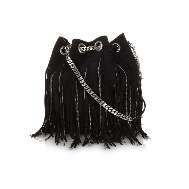Saint Laurent Emmanuelle Large Fringe Bag