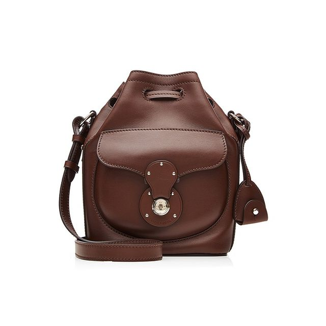 Ralph Lauren Ricky Small Leather Satchel