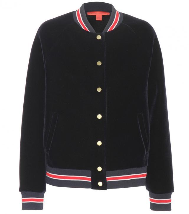 Tommy Hilfiger Varsity Velvet Bomber Jacket