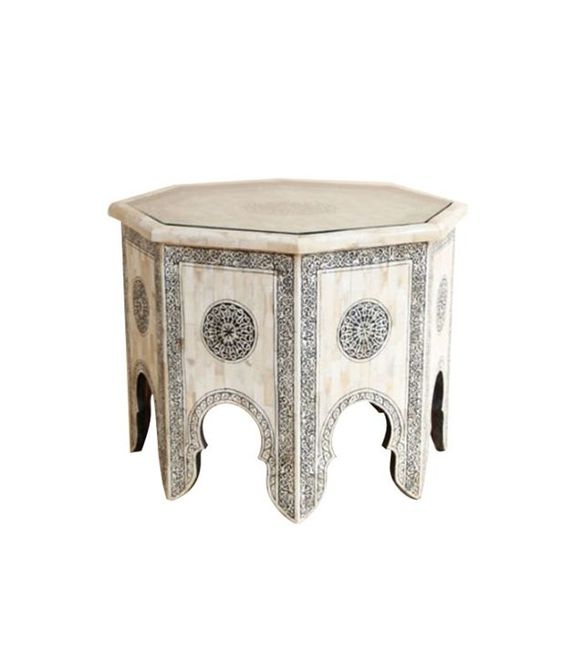 Etsy Moroccan White Bone Coffee Table