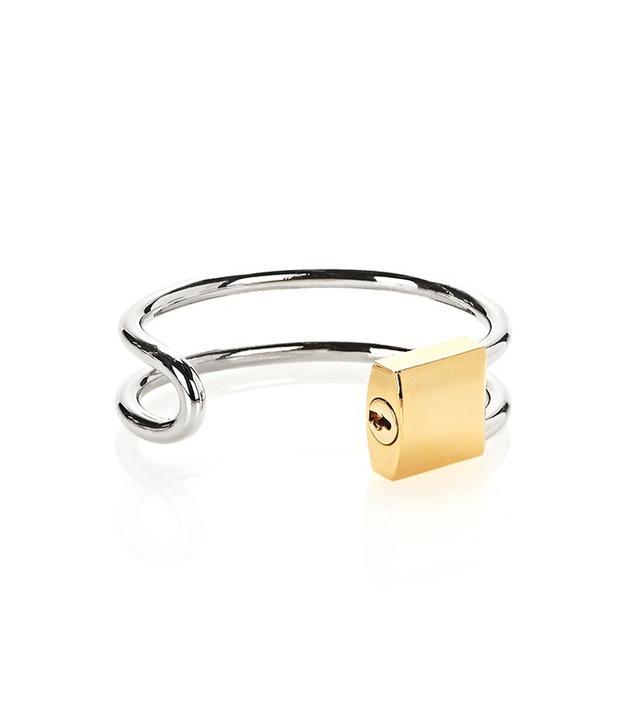 Alexander Wang Lock Hinge Cuff Bracelet