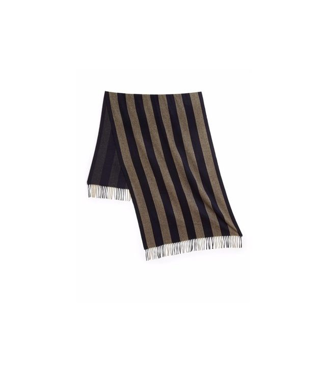 Acne Studios Canada Striped Wool Blanket Scarf