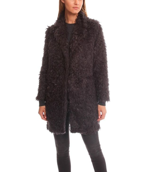 Elizabeth and James Iris Boyfriend Faux Fur Coat
