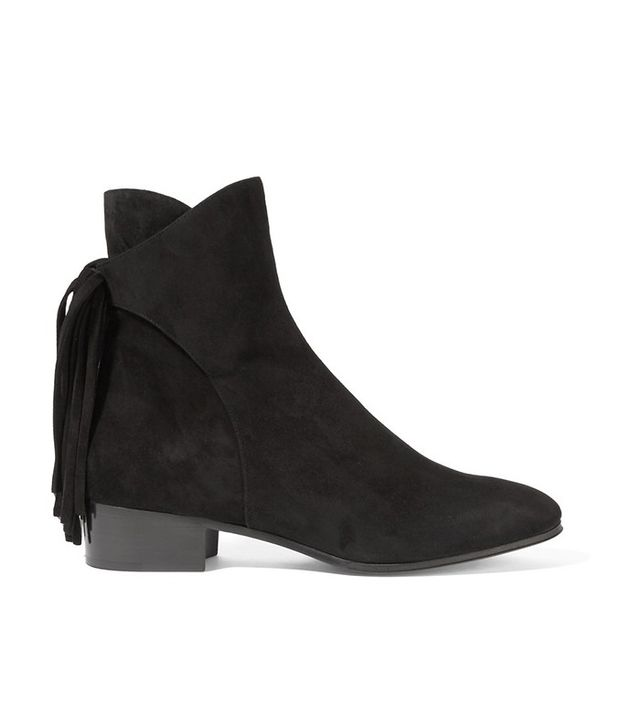 Chloé Fringed Suede Ankle Boots