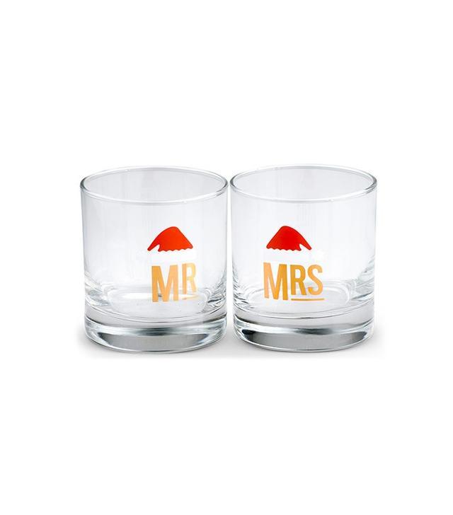 West Elm Gold Rim Coupe Glasses
