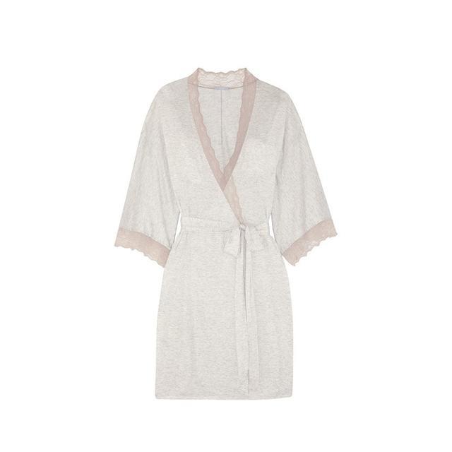 Eberyjey Georgette lace-trimmed jersey robe