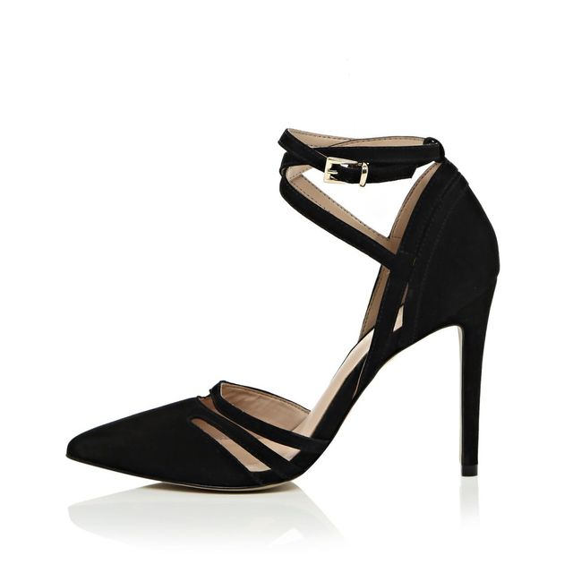River Island Leather Strappy Court Heels