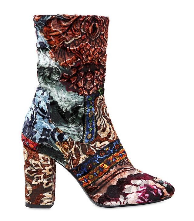 Strategia Patchwork Brocade Ankle Boots