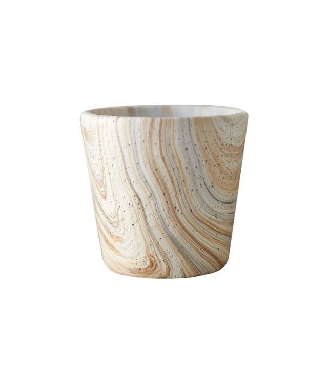 Terrain Marbled Cement Flower Pot